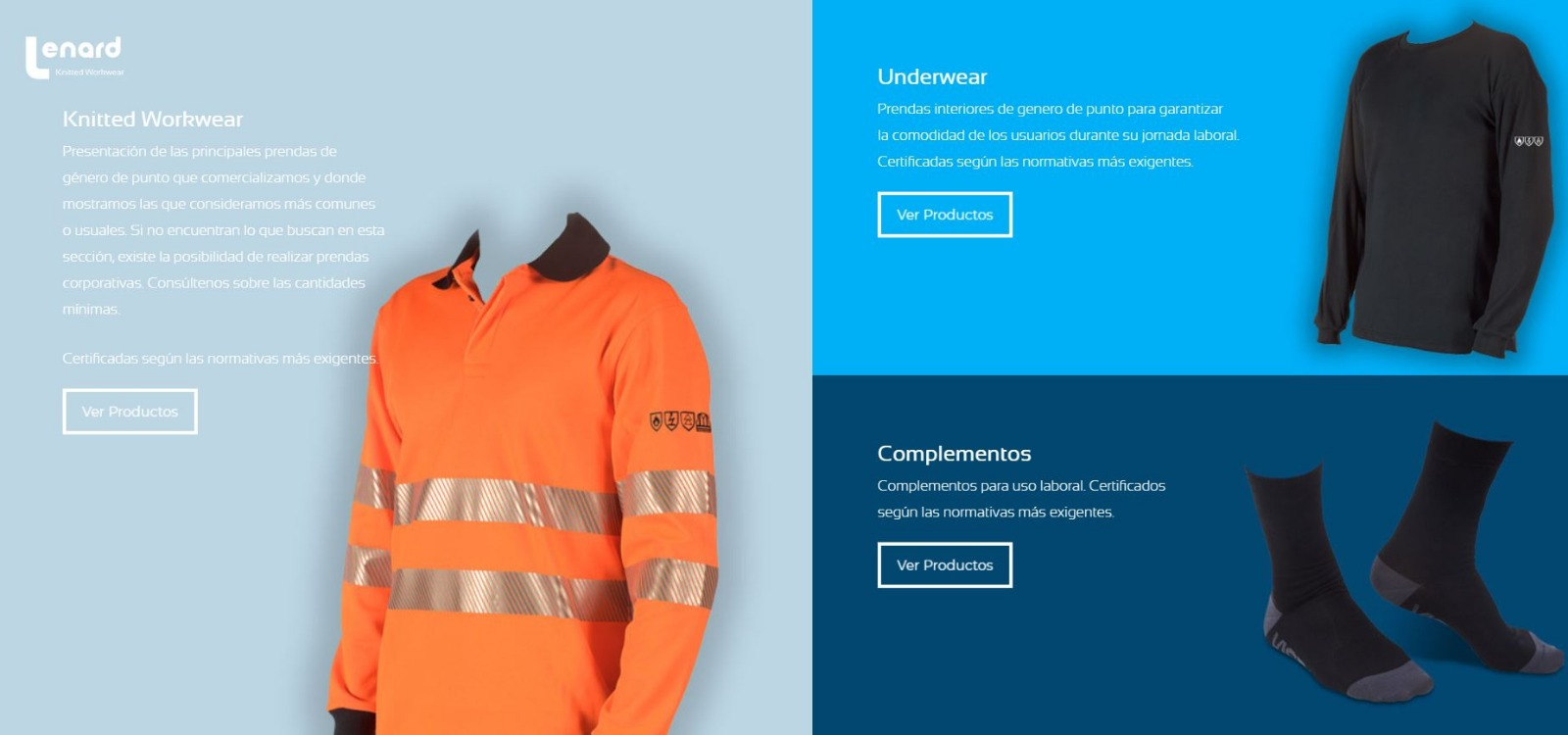 Lenard expands its product range with a collection of knitwear for protection at work